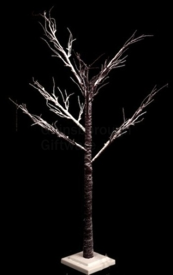Large Indoor And Outdoor Brown Light Up Snow Covered Twig